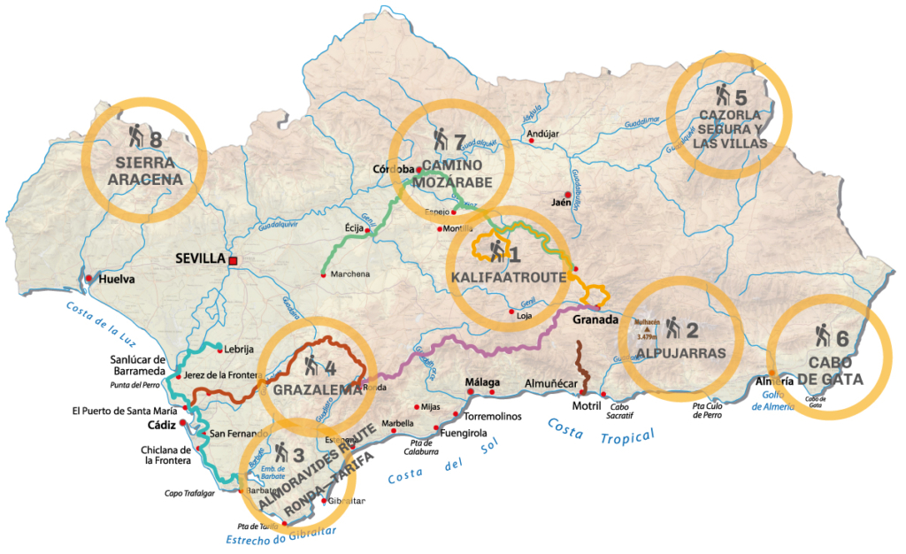 Map Andalusia Hiking